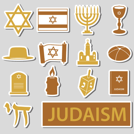 talmud: judaism religion symbols set
