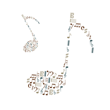 vocalist: music note icons set like big music note eps10
