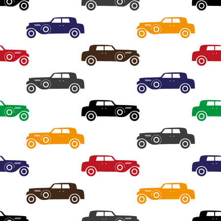 gree: old simple various color car seamless pattern eps10 Illustration