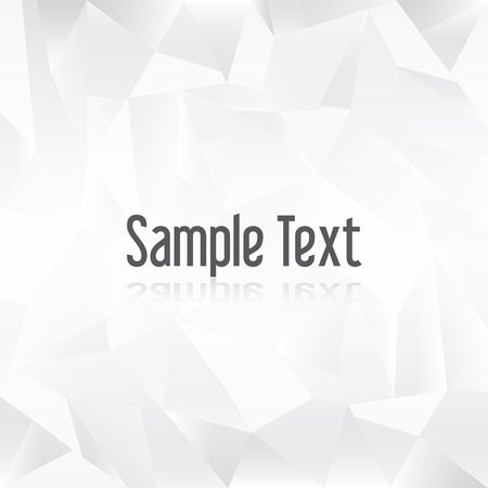 creased: white paper creased pattern with sample text Illustration