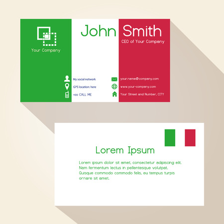 red telephone box: simple ityly colors business card design eps10 Illustration