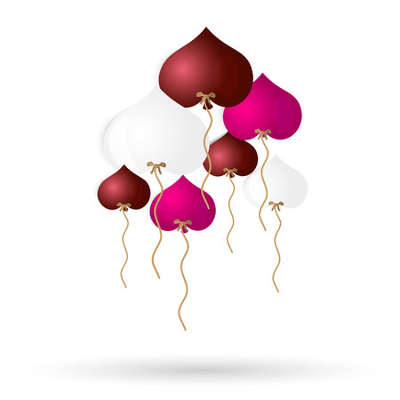 helium: color helium balloons heart shape for love and valentine