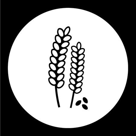 grain fields: grain corn simple isolated black icon