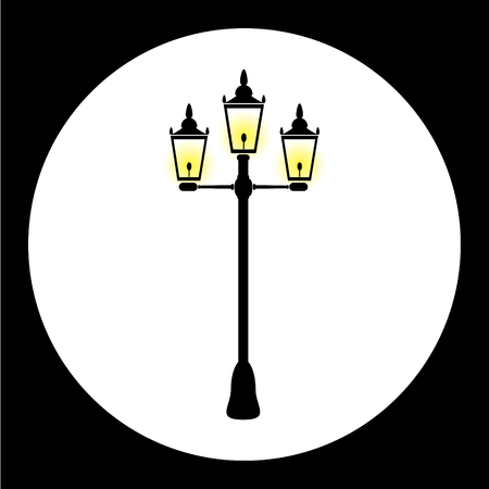 street lamp: simple street lamp isolated black icon