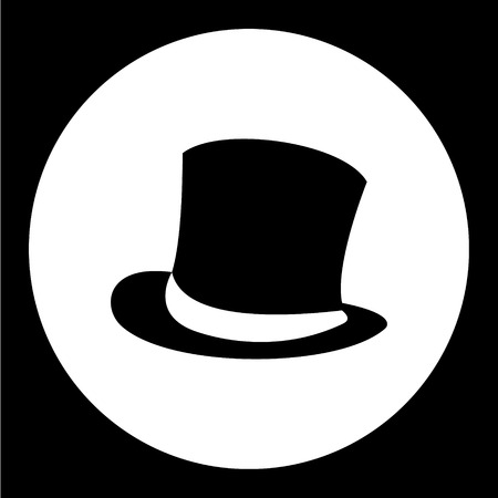 sir: simple man cylinder hat black icon