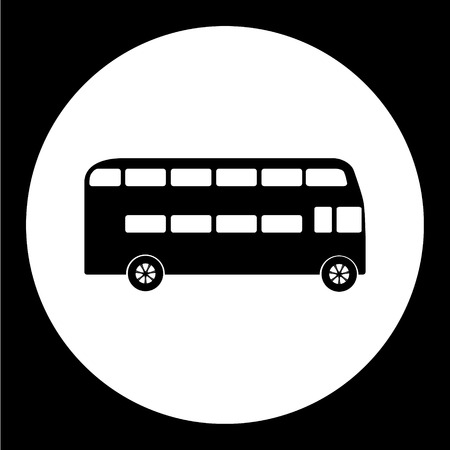 double decker bus: simple double decker bus public transport icon