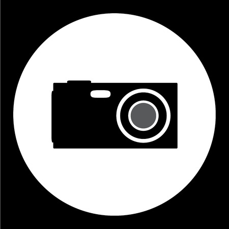 compact: compact camera simple isolated black icon
