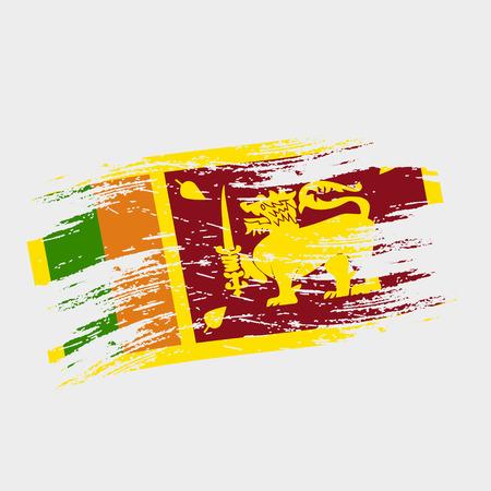 srilanka: color sri-lanka national flag grunge style eps10 Illustration