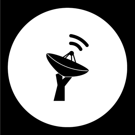 transmit: simple military radar isolated black icon eps10 Illustration