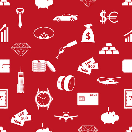 richness: richness and money theme red seamless pattern eps10 Illustration