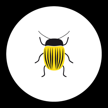 vermin: simple yellow little colorado beetle black icon