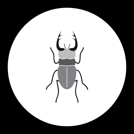 vermin: simple black longhorn beetle black icon