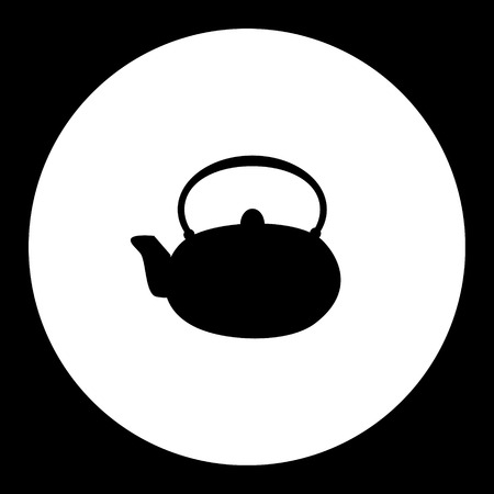 healty: simple teapot china porcelain silhouette icon Illustration