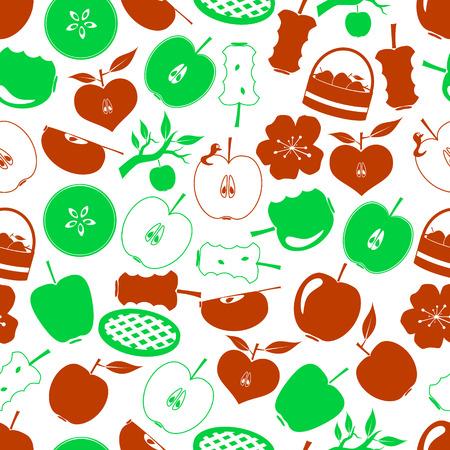 adam: apple theme simple icons seamless pattern Illustration