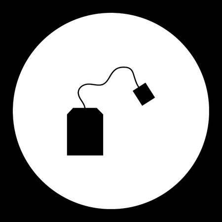 teabag: simple teabag for making tea silhouette icon Illustration