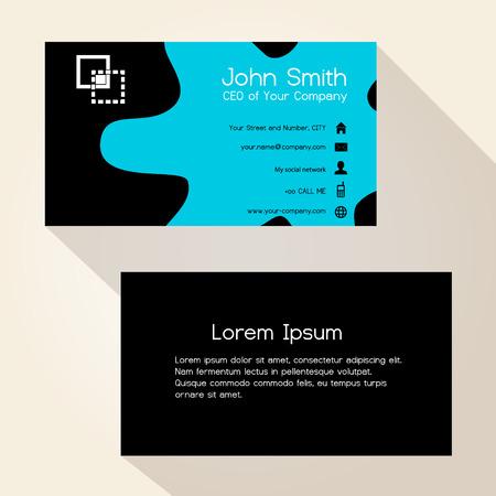 taint: simple blue spot black business card design