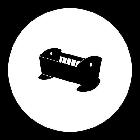 赤ちゃんゆりかごアイコンのシンプルな黒いシルエット 写真素材 - 59918829