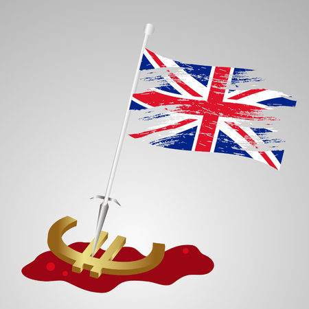 killing: color united kingdom flag euro killing eps10