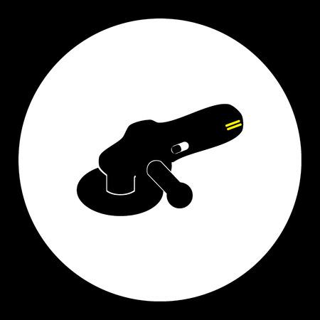 angle grinder: black angle disc grinder isolated black icon workshop tool