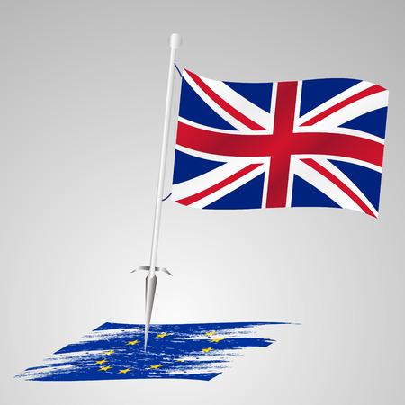 killing: color united kingdom flag european union flag killing Illustration