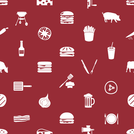 meat  grinder: hamburger theme modern simple icons seamless pattern Illustration
