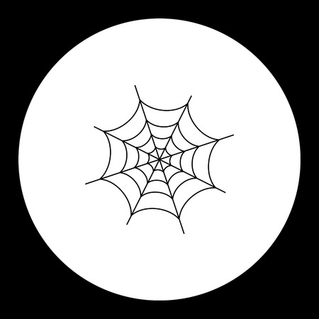 spider web: black simple spider web isolated icon eps10