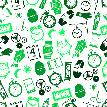 cell tower: time theme modern simple icons seamless color pattern eps10