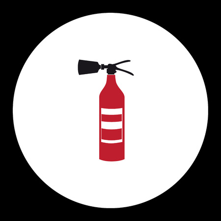 red fire extinguisher simple isolated icon eps10 Illustration