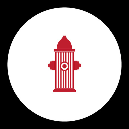 brigade: red fire hydrant simple isolated icon eps10 Illustration