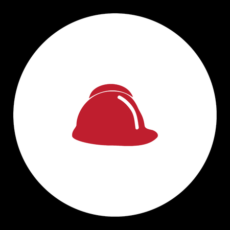fire brigade: red fire brigade helmet simple isolated icon eps10