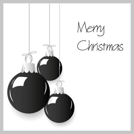 shiny black: shiny black color christmas decoration baubles hanging eps10