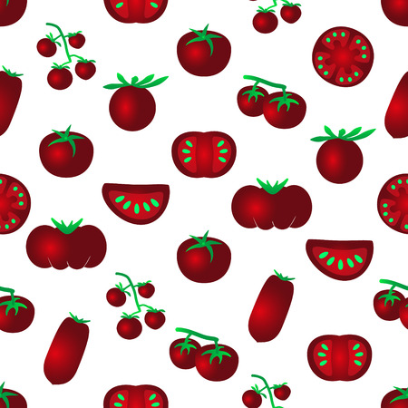 frites: red color tomatoes simple icons seamles pattern