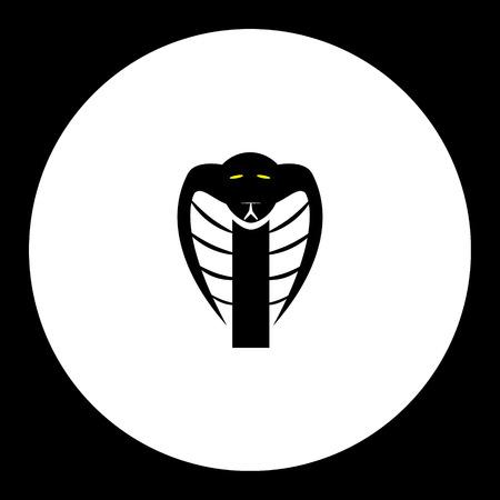 snake head: black cobra snake head simple isolated icon Illustration