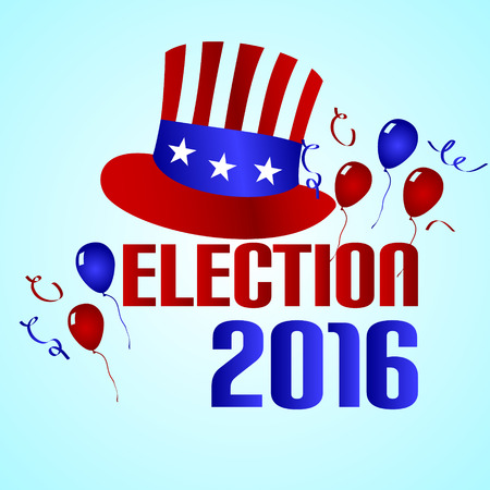 election 2016 in the united states of america Illustration