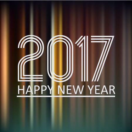 happy new year 2017 on dark color night lines background