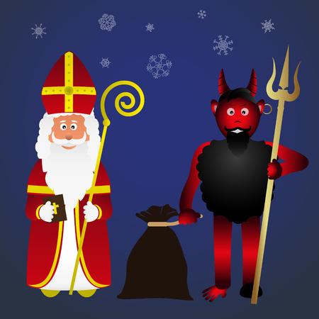 saint nicolas: colorful vector saint Nicolas character holiday eps10