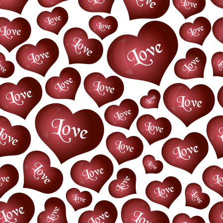 helium: red helium balloons heart shape for love and valentine seamless pattern
