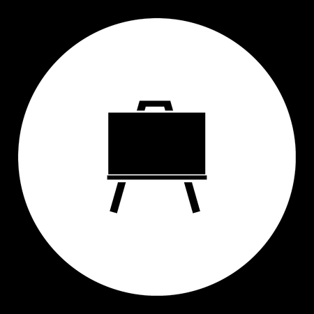teching: one isolated school black chalk board icon
