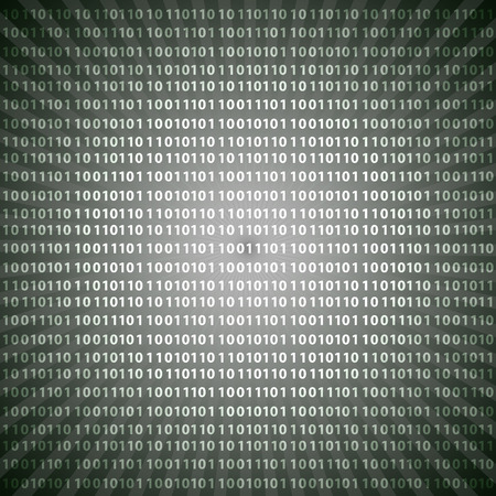 abstract mystic binary code digits grayscale lines background