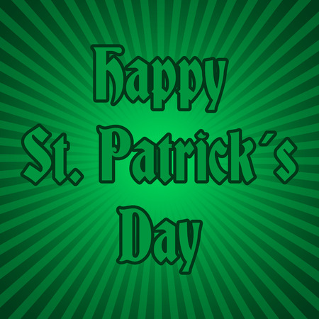 stipes: happy saint patrick day on green striped background eps10