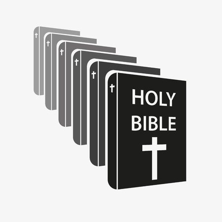 vicar: holy bible christian saint books set of simple icons eps10