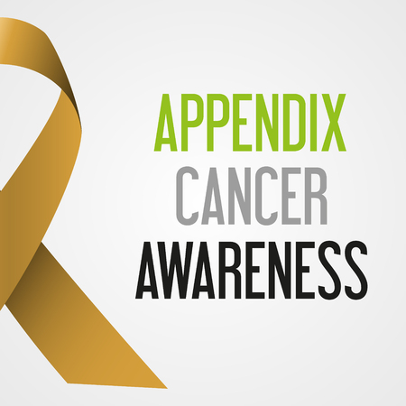 appendix: world appendix cancer day awareness poster eps10