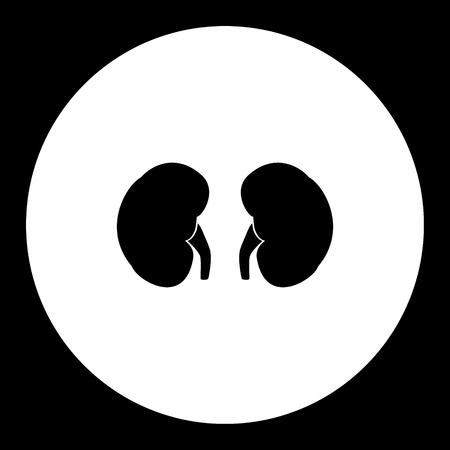 Nieren interne Orgel medizinische einfache schwarze Ikone eps10 Standard-Bild - 77261423