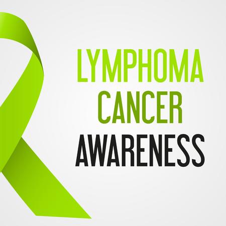 세계 림프종 암 하루 인식 포스터 eps10 일러스트