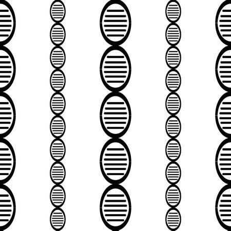 흑인과 백인 DNA 게놈 간단한 원활한 패턴 eps10 일러스트