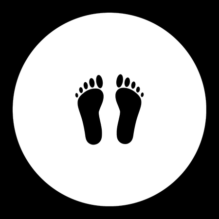 Human footprints, simple silhouette black icon, eps10