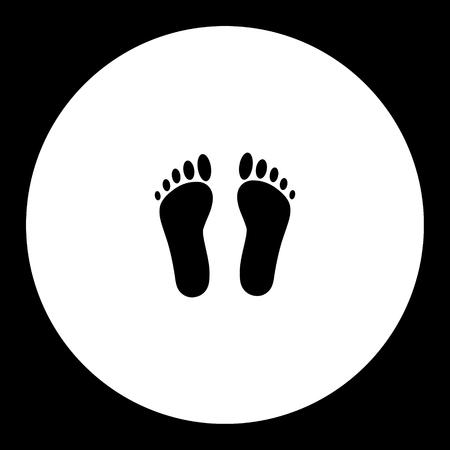 Human footprints, simple silhouette black icon, eps10