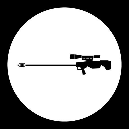 Sniper rifle, simple silhouette black icon, eps10 Illusztráció
