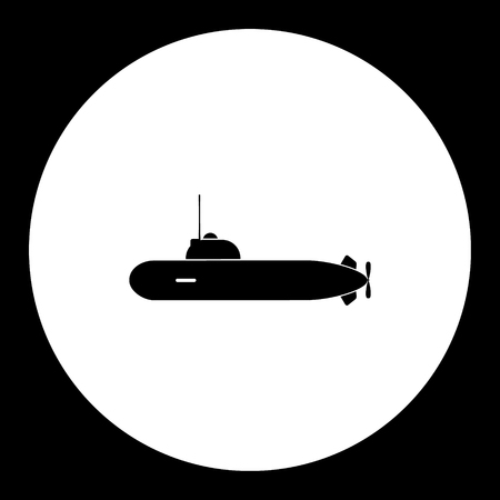 one military submarine simple black icon eps10