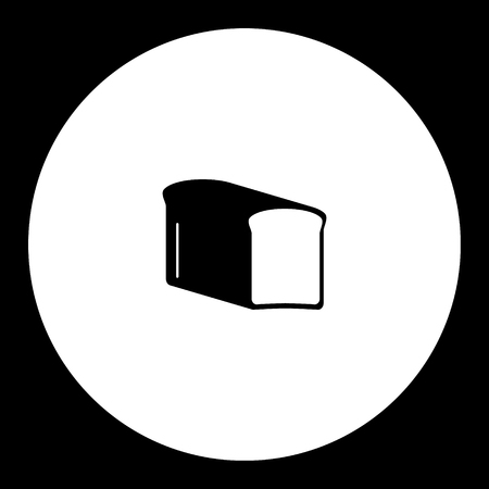 toast bread simple black and green icon eps10
